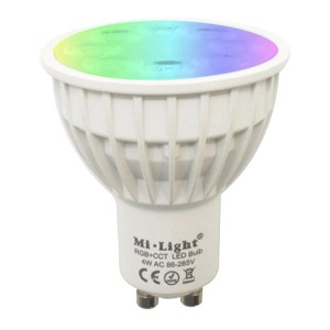 Milight 4W RGB+CCT GU10 żarówka LED WiFi Spotlight FUT103