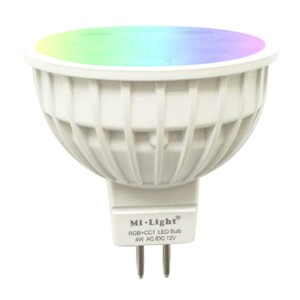 Milight 4W RGB+CCT MR16 żarówka LED WiFi Spotlight FUT104