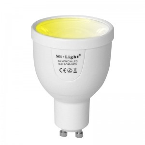 Milight 5W CCT GU10 żarówka LED WiFi Spotlight FUT011